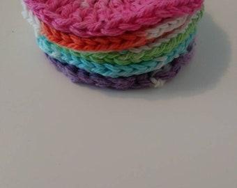 Crochet face scrubbies