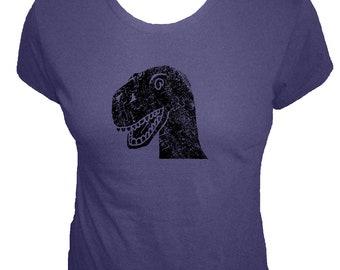 Dinosaur Shirt - T Rex Shirt - Womens Organic T Shirt - 4 Colors - Organic Bamboo and Cotton T Shirt - Gift Friendly