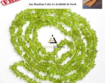 """1 strand natural peridot freesize uncut nuugets chips loose beads 33"""" long, peridot nuggets tumble, peridot uncut chips beads"""