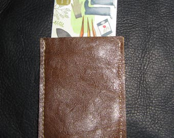 Brown Leather Card Pouch/ID or Credit Card Holder