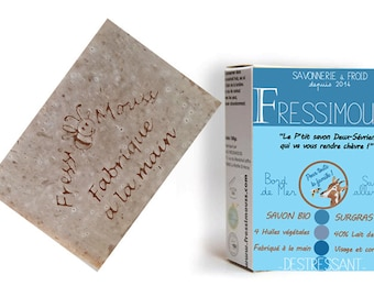 SOAP in cold with organic goat milk (40%) and seaside miel_Senteur