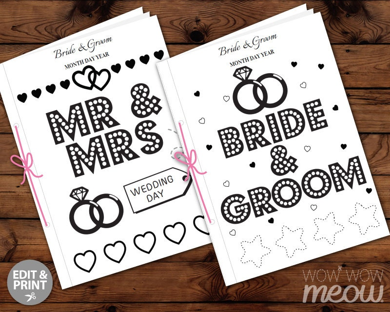 Wedding Coloring Book Kid Activity Children S Page Sheets