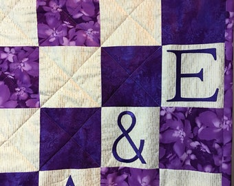 Gift for the Bride - Bridal Shower Gift - Custom Wedding Gift - Wedding Shower Gift - Wedding Guestbook Quilt - Guest Book Alternative
