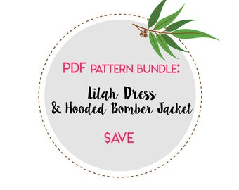 PDF Sewing Pattern Bundle| Multiple Purchase Discount | Tutorial | - Hooded Bomber Jacket | Doll Dress | Waldorf Doll. Doll Clothing