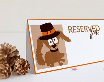 Thanksgiving  Printable  place seating / dinner table tent cards Set of 8- INSTANT DOWNLOAD