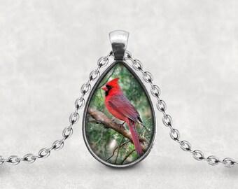 Cardinal Bird Pendant, Gift For Cardinal Lover, Mother's Day Necklace, Pendeloque Pendants