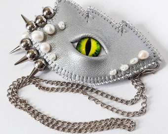 Dragon Eye Brooch 2 in 1 Pendant Pearl Thorns Dragon's eye Gothic brooch Halloween gift Luxury jewelry Gift for girl Gift for Granny