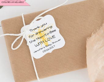 Bumble bee tags - Bee baby shower tags - Baby shower tags - Bumble bee baby shower