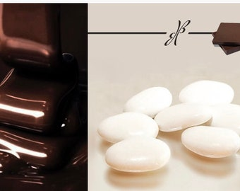 Koufeta Dark chocolate coated almonds