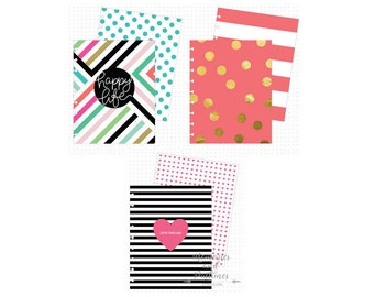 Classic Happy Planner Covers - 3 Sets - Happy Life - Create 365 - MAMBI Planner Cover - Me & My Big Ideas - 290497