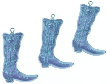 Boot Charm, plastic plated, 4 each 09830