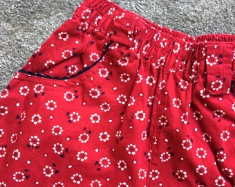 Vintage toddler floral print trousers, 2-3 years