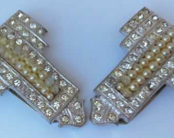 Rhinestone and Pearl Clips for Shoes, Sweaters or Scarves