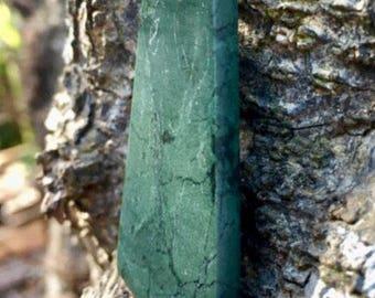 Clear Creek, CA Jadeite Jade Stone Pendant