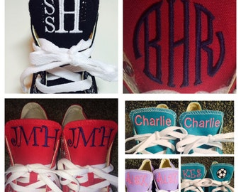 Children's Embroidered, Monogrammed Converse Sneakers, Chuck Taylors,  Personalized sneakers