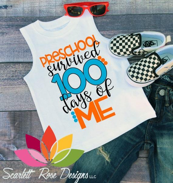 100th day of school svg, 100 days, School svg, Preschool Survived ...