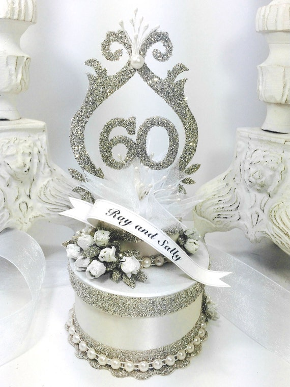 wedding cake toppers etsy items similar to 60th wedding anniversary cake topper 8824