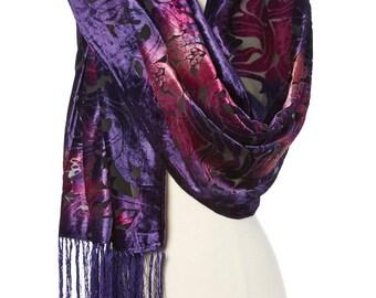 Women's Vintage  Velvet Silk-Blend Scarf