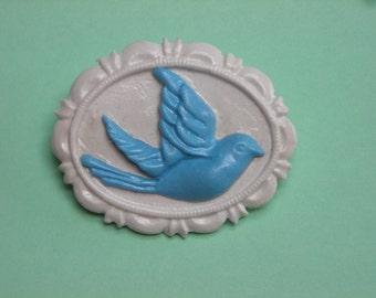 Blue Bird Cameo Brooch Classic Lolita Pin