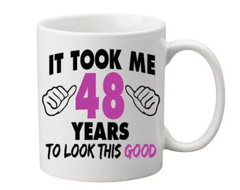 48 Years Old Birthday Mug Happy Birthday Gift Birthday Coffee Mug Coffee Cup Born in 1969 Personalized Mug ALL AGES AVAILABLE