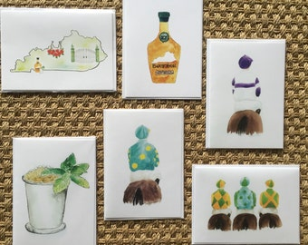 Cards, birthday card, Kentucky, mint julep, bourbon, jockeys, greeting cards