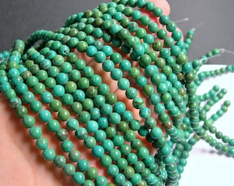 Howlite turquoise - 6mm round beads -1 full strand - 68 beads - A quality - RFG262