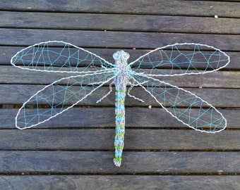 Wire Dragonfly Sculpture