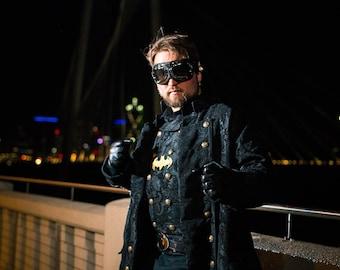 Men's Batman Inspired Steampunk Costume, dustpunk, dieselpunk, Western, Gaslight, Dickins, Classy, Renaissance Festival, Ren Fair