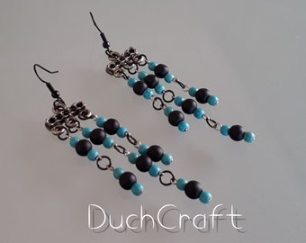 Onyx Turquoise Ethnic Earrings