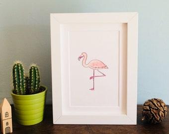 Phillip Flamingo Print (Unframed)