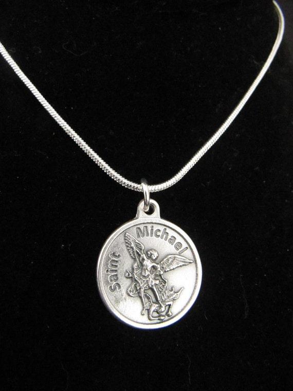 Womens catholic archangel st michael pendant necklace aloadofball Images