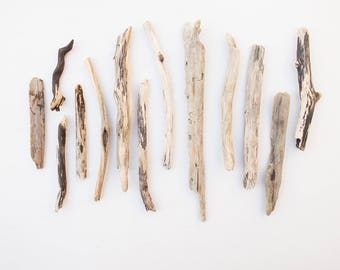13x GNARLY DRIFTWOOD PIECES, small drift wood, knotted wooden chunks, scrap, reclaimed, salvage, natural craft supplies, raw materials, ooak