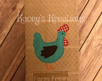 Farmhouse Chicken Kitchen Towel