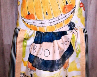 Boo to you - little pumpkin dress - Size 4T - Ready to ship