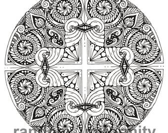 "Mandala art print ""Blx"""