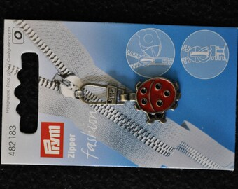 fancy metal Red Ladybug 482183 prym zipper pull