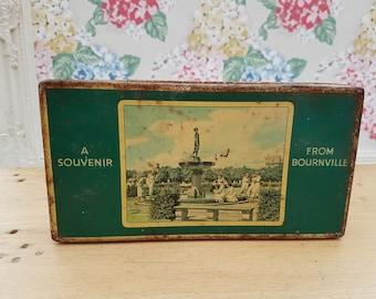 Vintage Cadbury Bournville souvenir, chocolate or biscuit tin