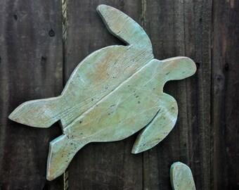 Sea Turtles, Hawaiian Sea Turtle, Sea Turtle Art, Green Turtle, Wooden Sea Turtles, Wood Turtles, Coastal Living Room, Nursery Turtle Decor