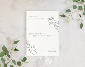 Wedding Invitation Sample - The Josephine Suite
