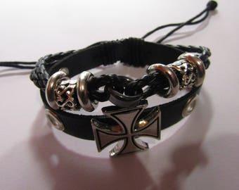 black man or woman cross bracelet
