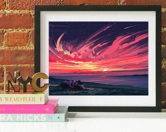 Maui Beach Art Print, Maui Skyline, Maui Art, Maui Poster, Maui Print, Maui Art, Maui Map, Maui Wall Art, Hawaii Art