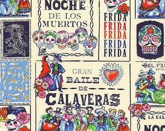 Fabric by the Yard --  Baile de Calaveras from Alexander Henry