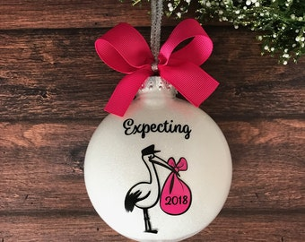 Expecting Ornament, Baby Shower Gift, Expecting Parents Gift, Expecting Mom Gift, New Mom Gift, We're Expecting Baby Ornament Mom To Be Gift