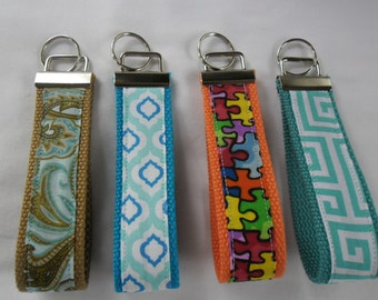 Wrist Key Chain-Key Fob-Wristlet Keychain-Fabric Fob