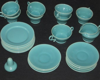 Vintage Franciscan Ware El Patio Dishes 25 piece Lot Turquoise ... & Turquoise dinnerware | Etsy