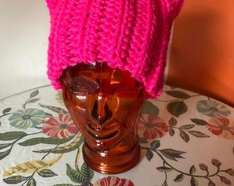 Cat Hat in Hot Pink