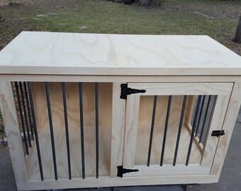 unfinshed Dog crate furniture, DIY dog crate, dog crate funiture