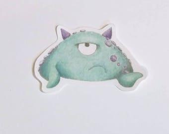 Autocollant Monster timide - Vinson