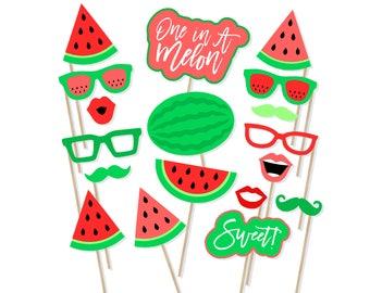 Printable Watermelon Photo Booth Props - Watermelon Photobooth - Watermelon Props - Watermelon Birthday Party Decor - Watermelon Invite