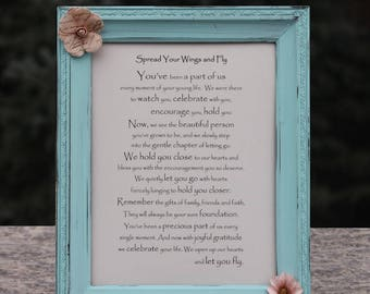 Personalized Graduation Gift for Child High School Grad Gift College Graduation Gift for Daughter or Son Graduation Poem